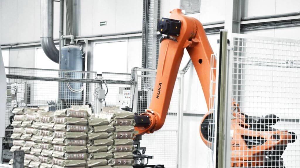 паллетизация роботом 2