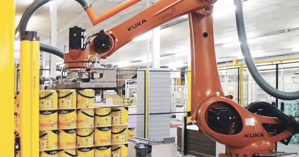 паллетизация роботом 3